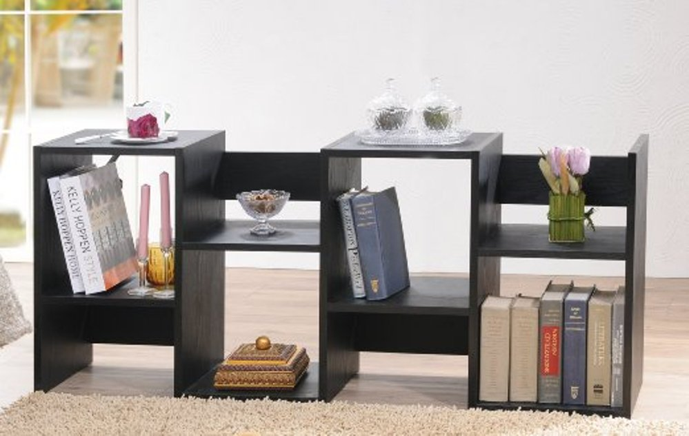 Image of: Enitial lab mateo open back bookcase white