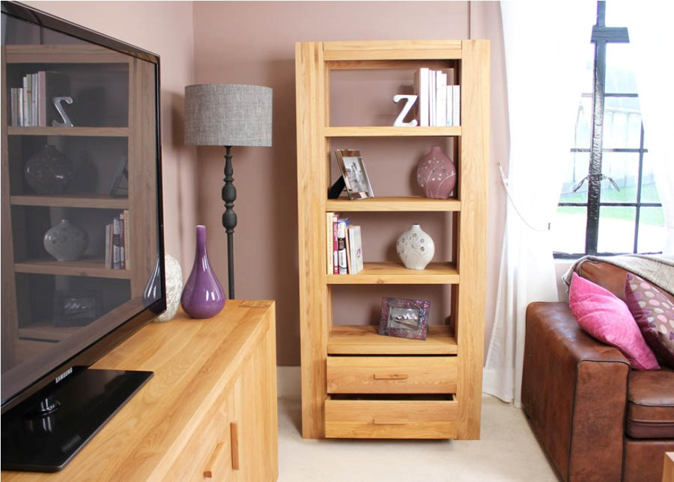 Image of: Enitial lab mateo open back bookcase