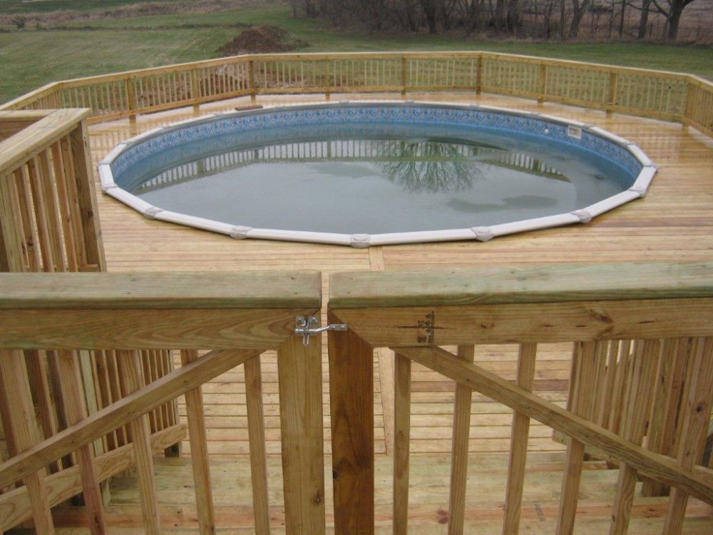 Image of: Examples of Decks for Above Ground Pools