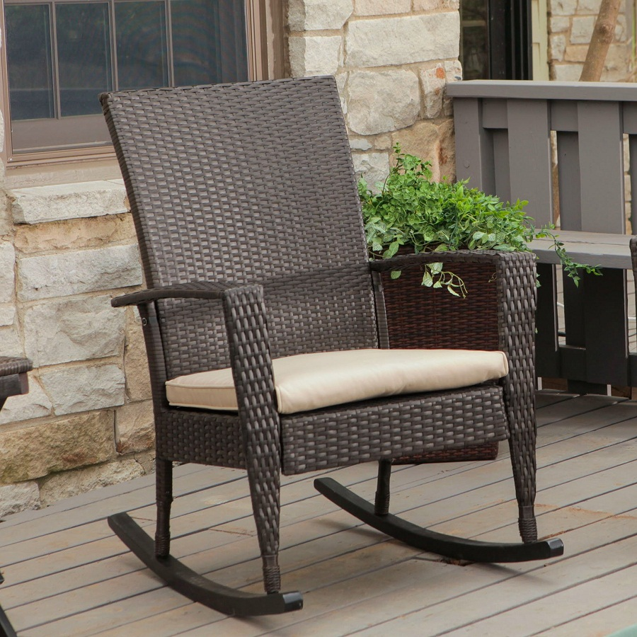 Image of: Excellent Outdoor Rocking Chair Cushions