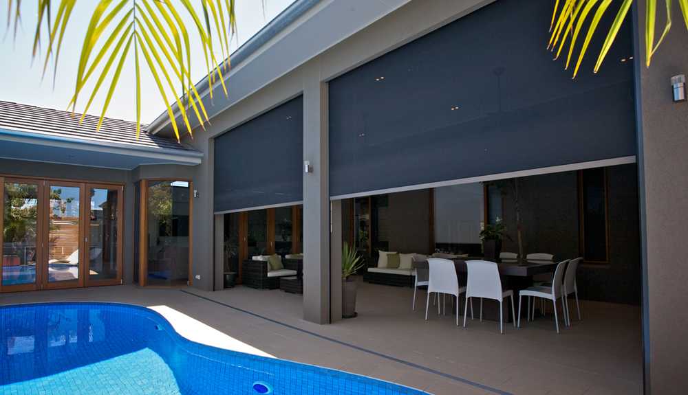 Image of: Exterior Awnings Pool
