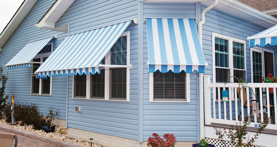 Image of: Exterior Awnings Stripes