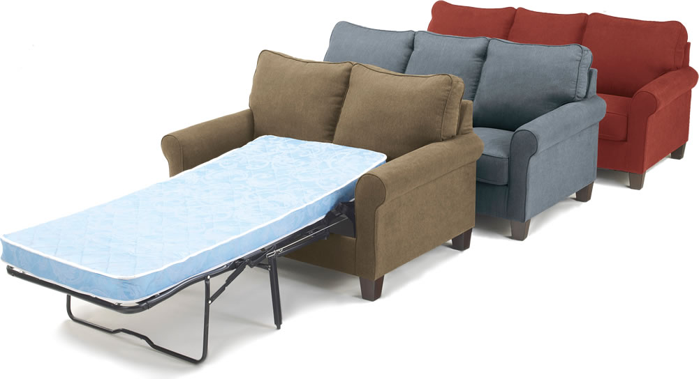 Image of: Fabric Chair Bed Twin Sleeper