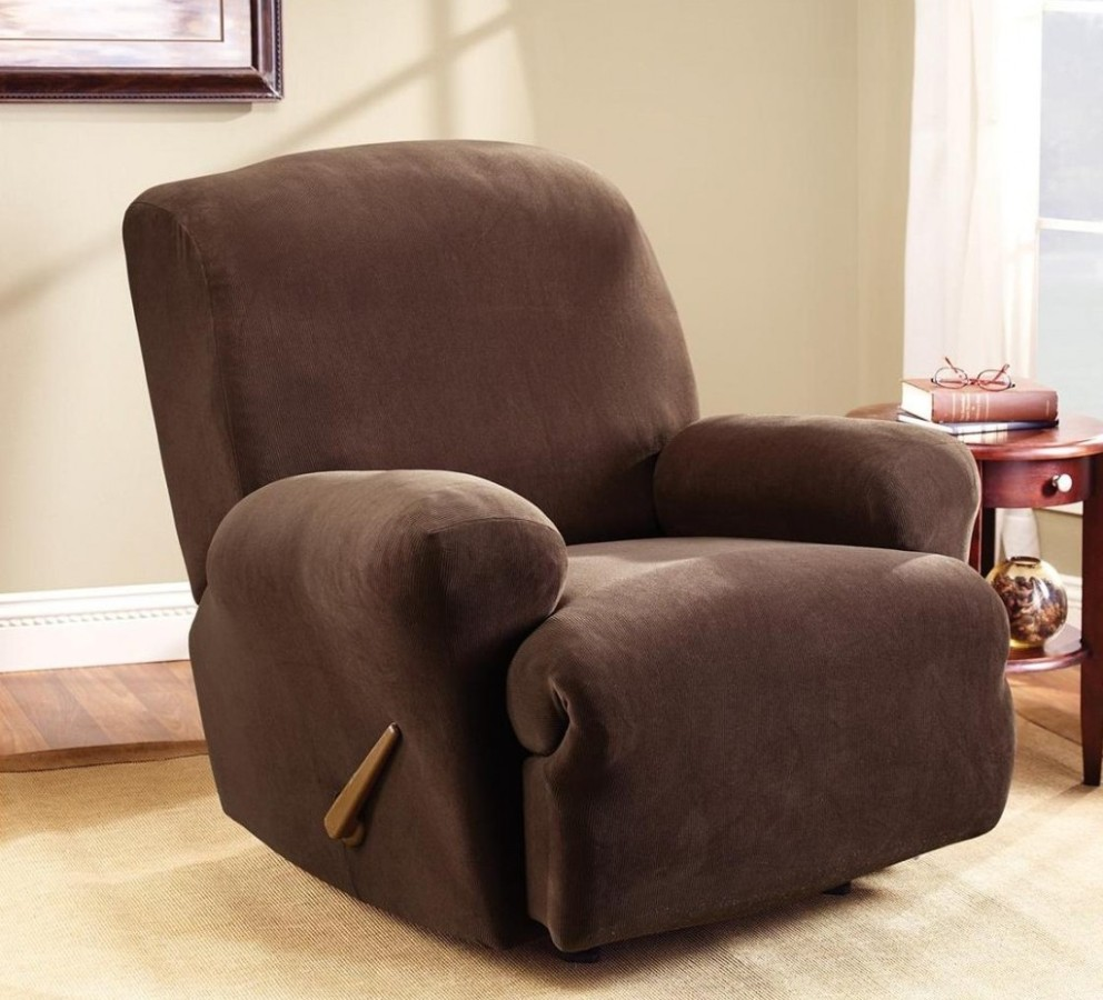 Image of: fabric reclining office chair