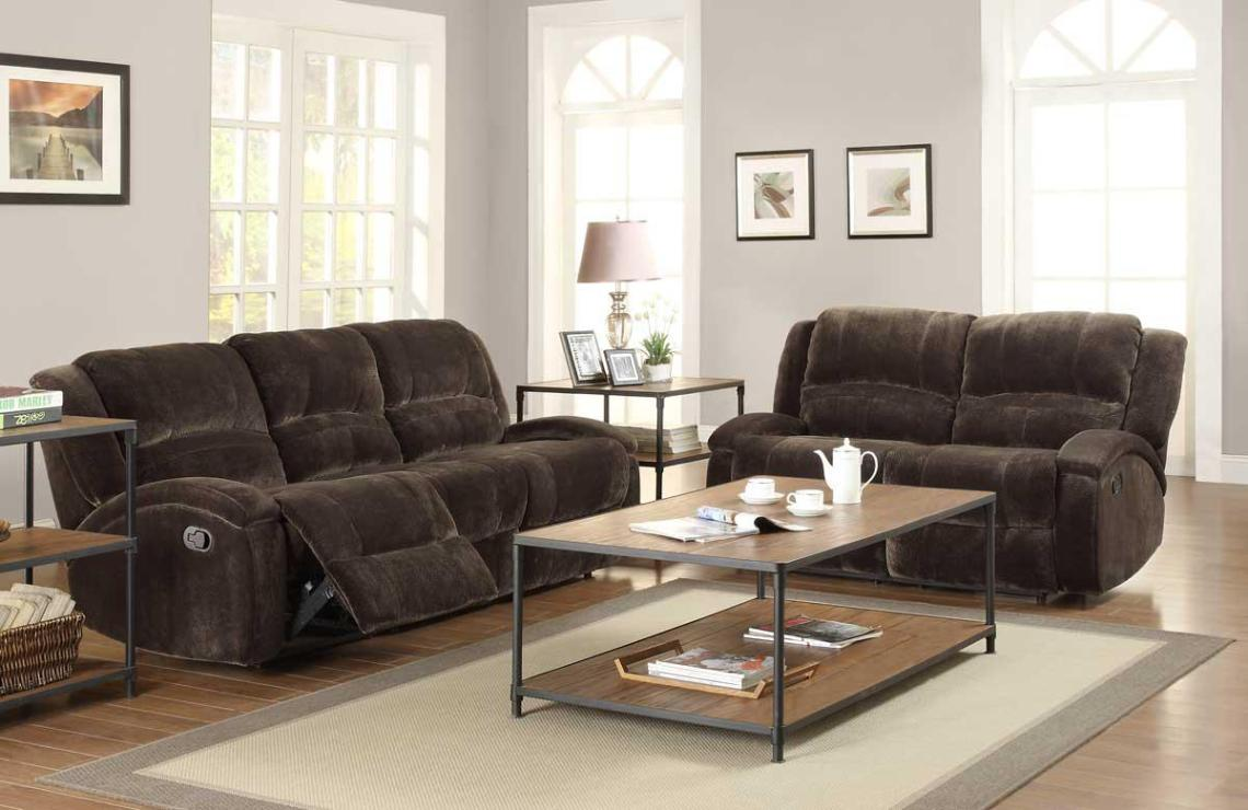 Image of: Fabric Reclining Sofa Sets