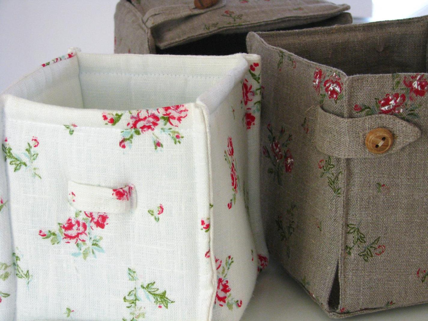 Image of: Fabric Storage Bins With Lids