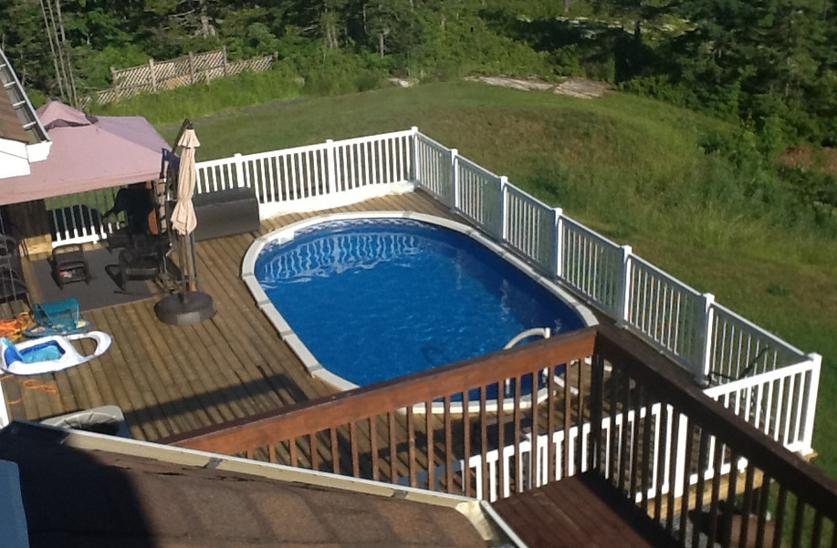Image of: Famous Oval Pool Decks