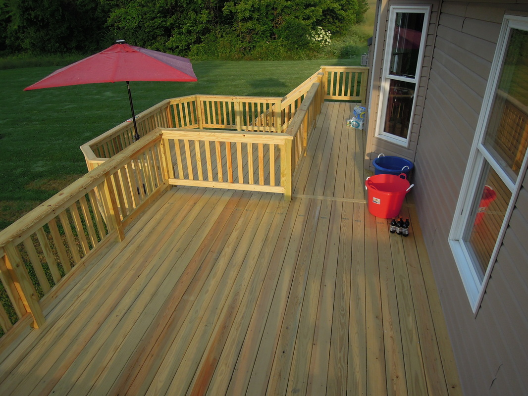 Image of: Famous Pressure Treated Decking