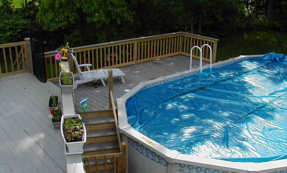 Image of: Fan Decks for Above Ground Pools