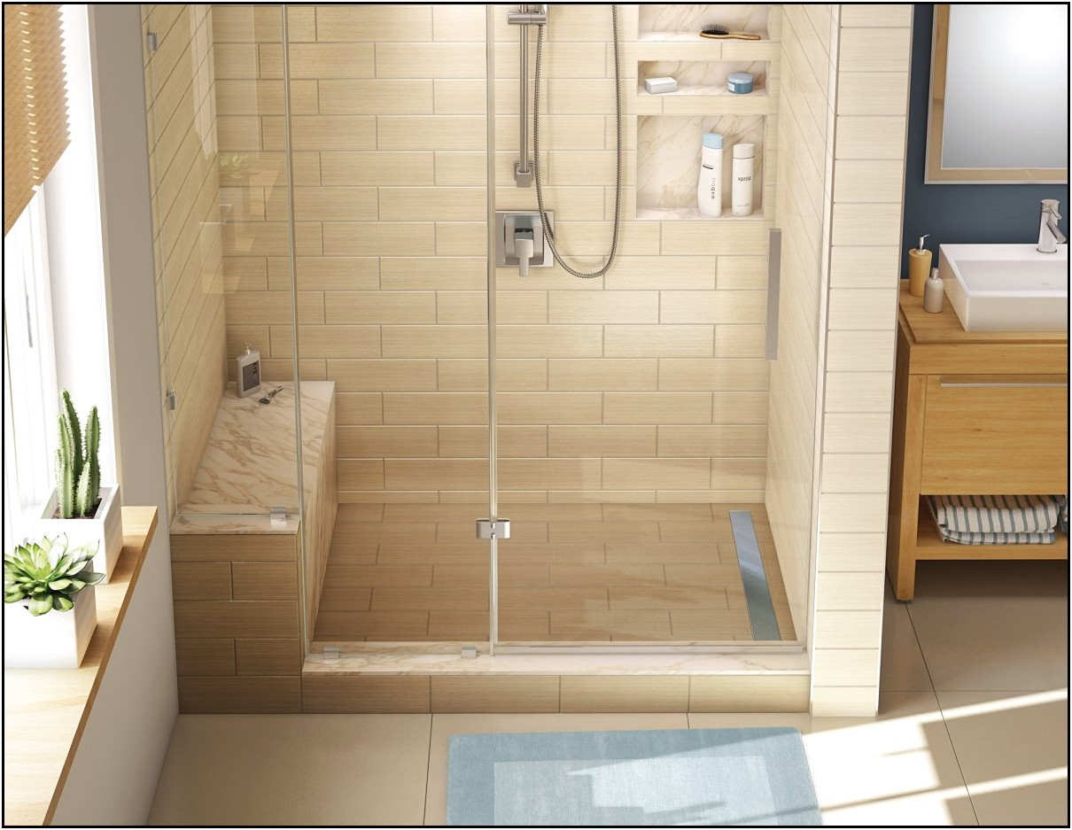 Image of: fiberglass shower pan picture