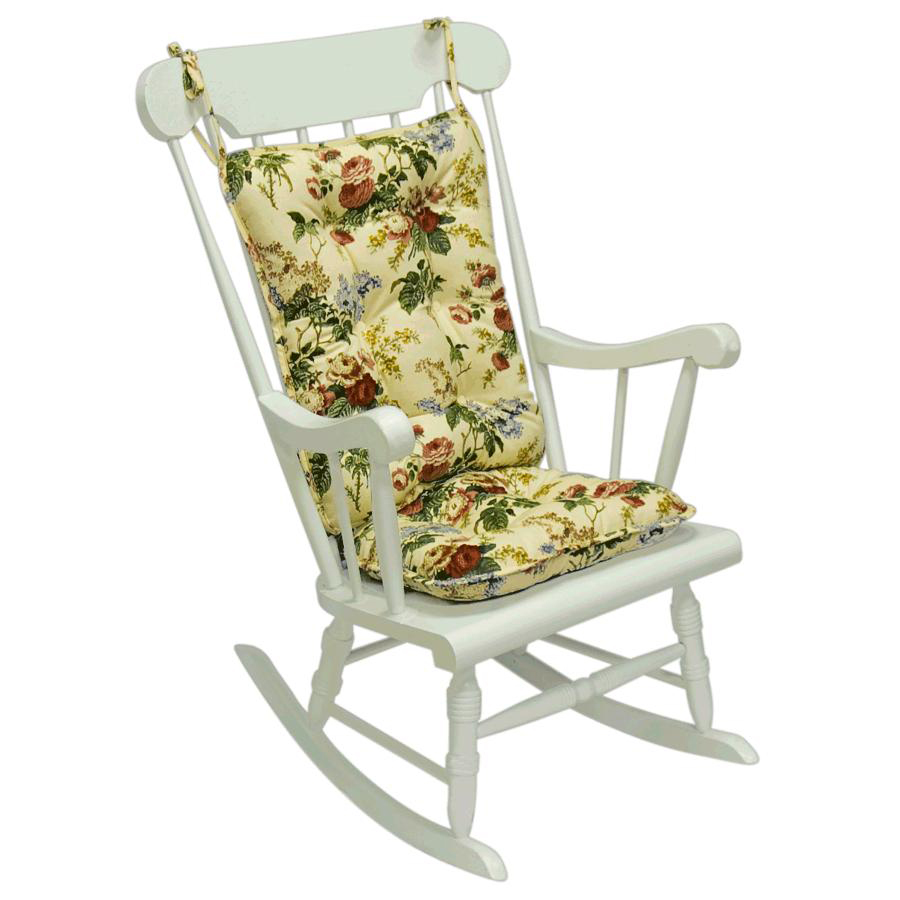 Image of: Floral Outdoor Rocking Chair Cushions