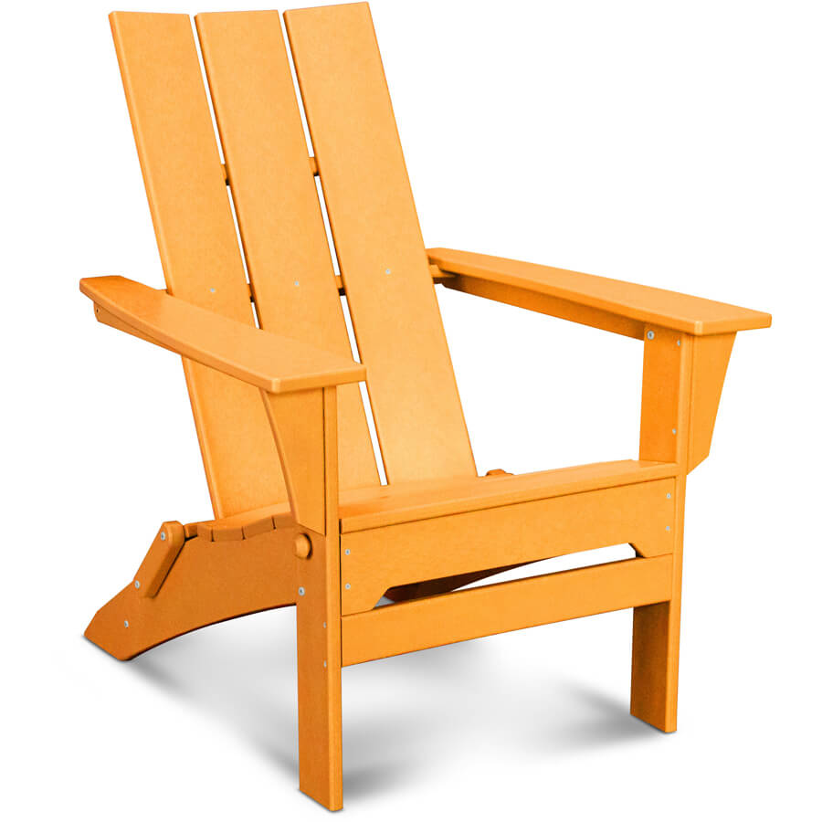 Image of: Folding Adirondack Chair with Footrest
