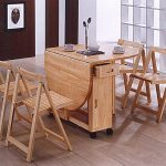 Folding Dining Chairs and Table