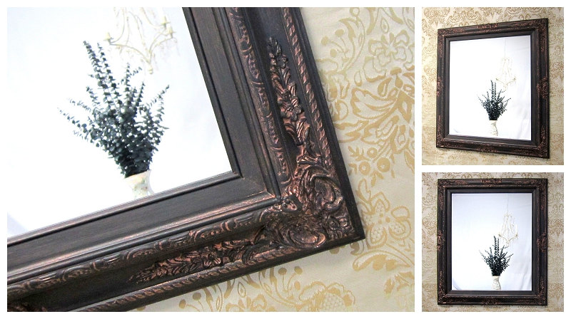 Image of: Framed Oil Rubbed Bronze Mirrors Bathroom