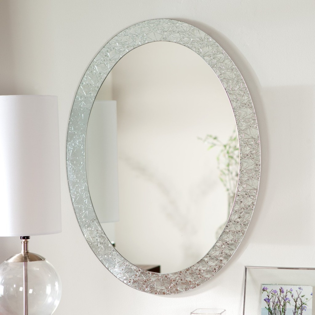 Image of: Framed Round Bathroom Mirrors