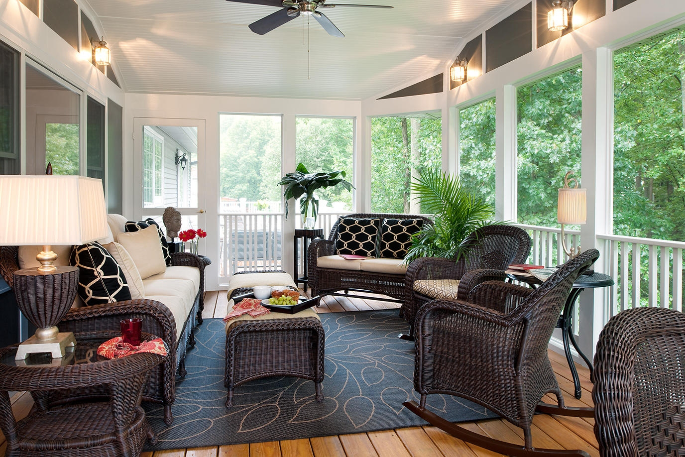 Image of: Front Deck Ideas Lamps