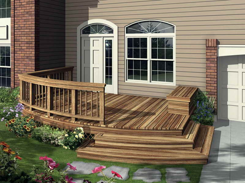 Image of: Front Deck Ideas Plan