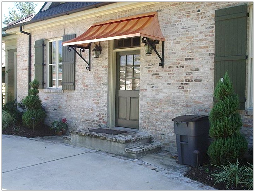 Image of: Front Door Awning Ideas Copper