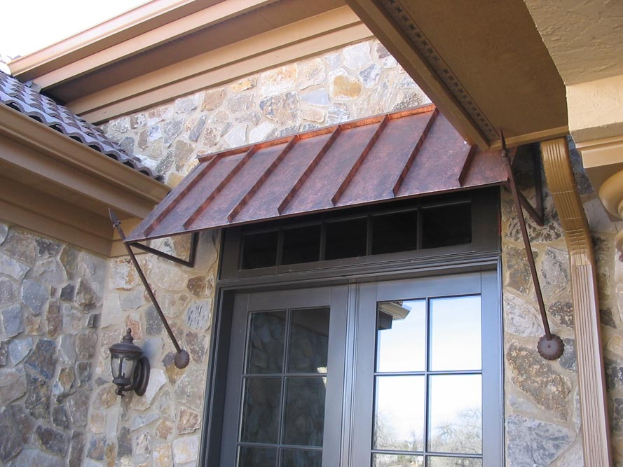 Image of: Front Door Awning Ideas Metal
