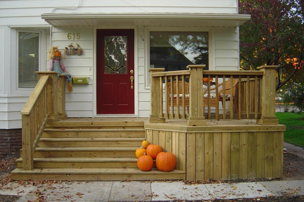 Image of: Front Porch Decks Kits