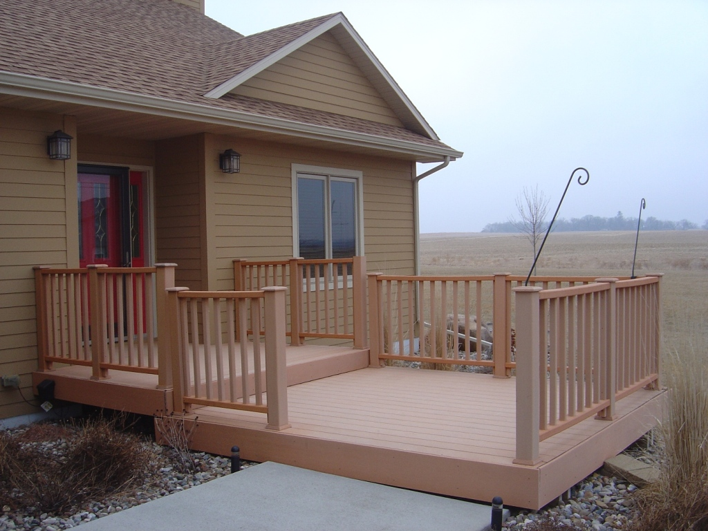 Image of: Front Porch Decks Materials