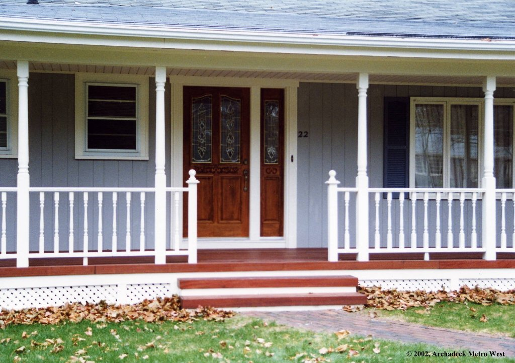 Image of: Front Porch Decks for Mobile Homes