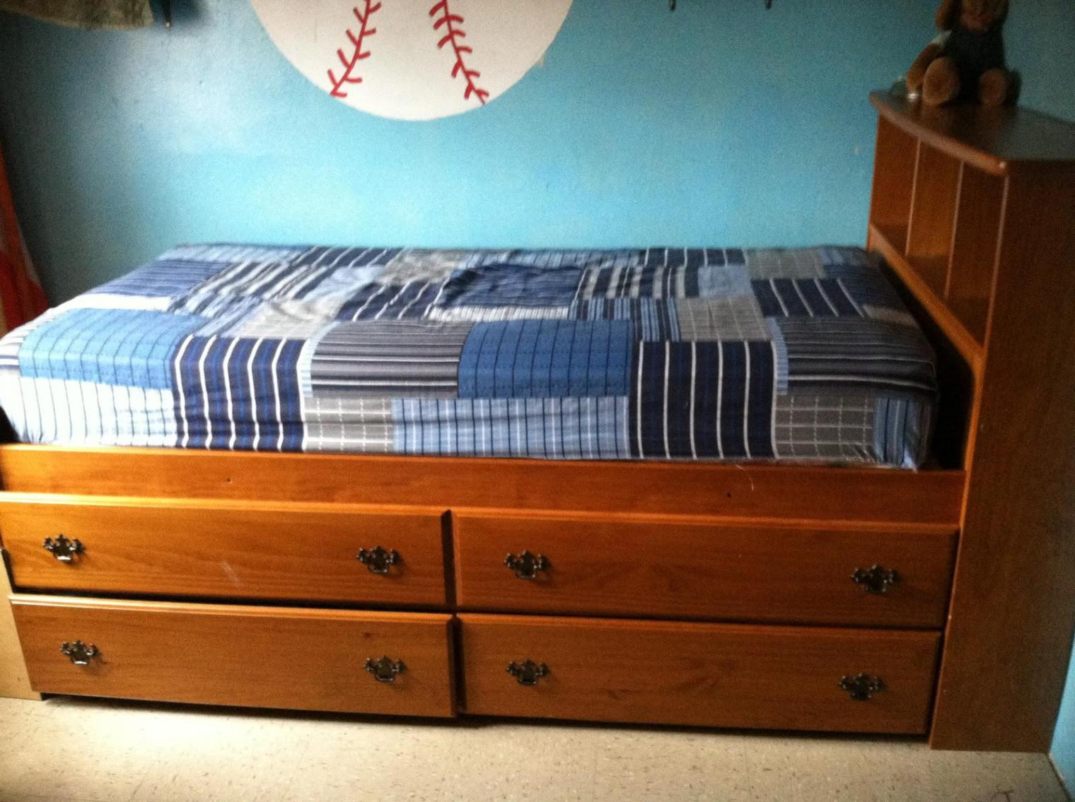 Image of: Full Bed Frame With Drawers