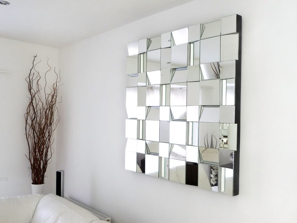 Image of: Full Wall Mirrors Black Frame