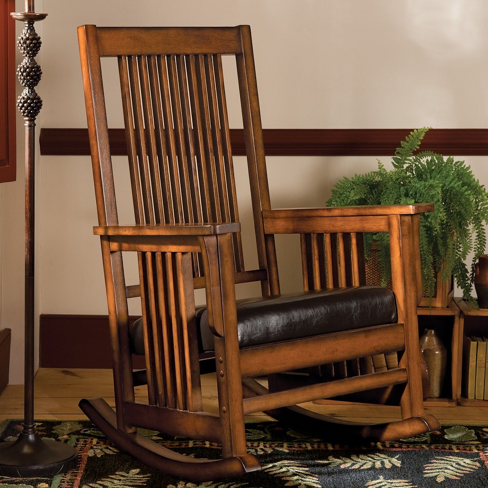 Image of: Function Mission Style Rocking Chair