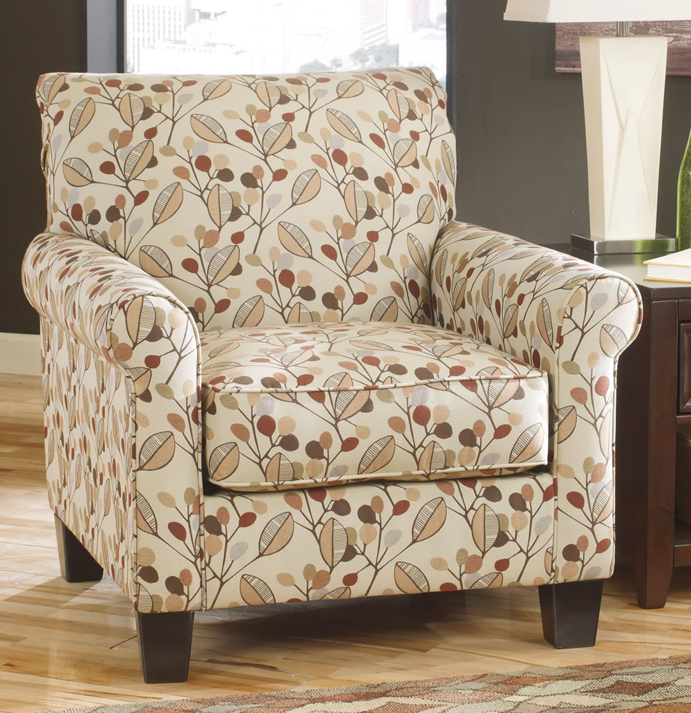 Image of: Furniture Floral Accent Chair