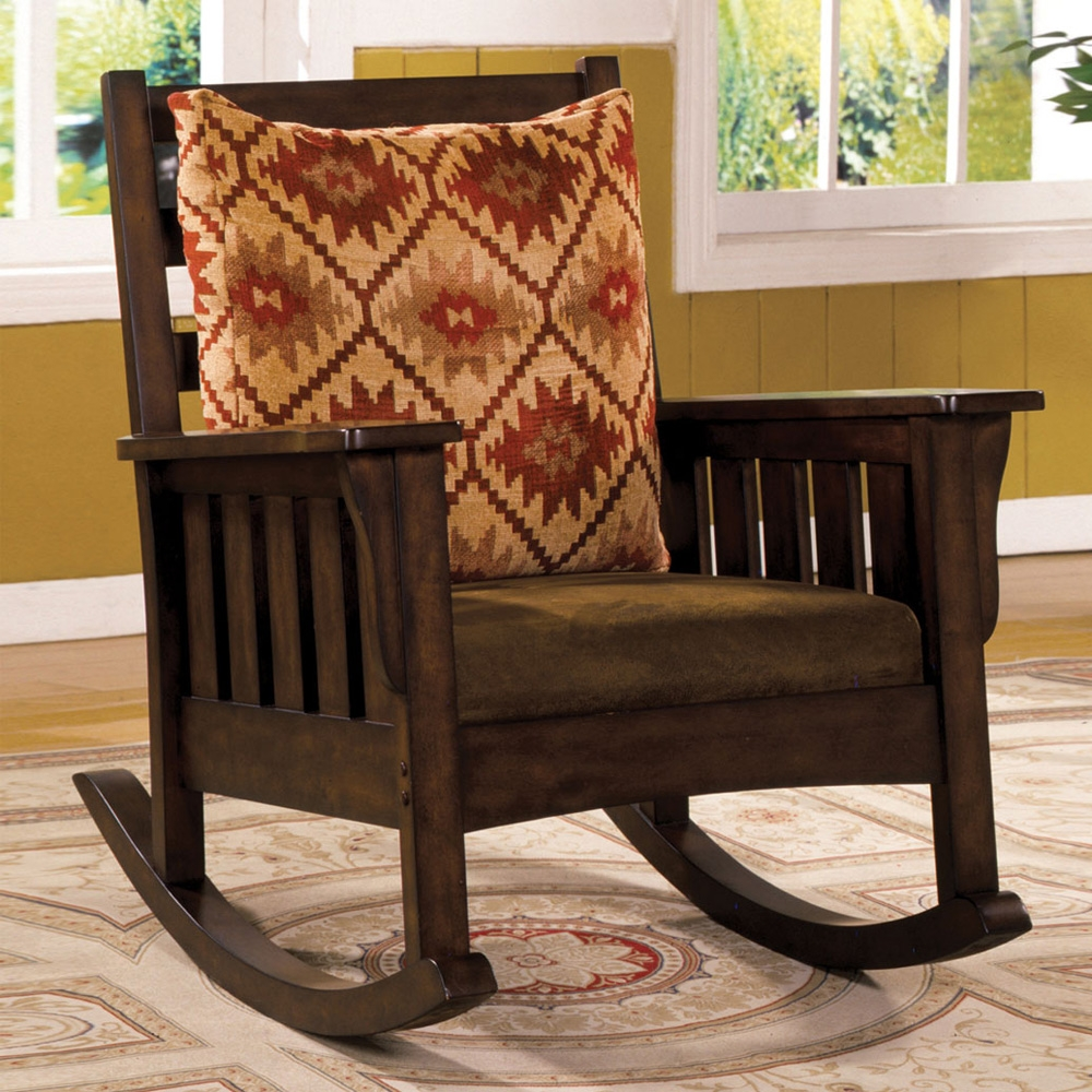 Image of: Furniture Mission Style Rocking Chair