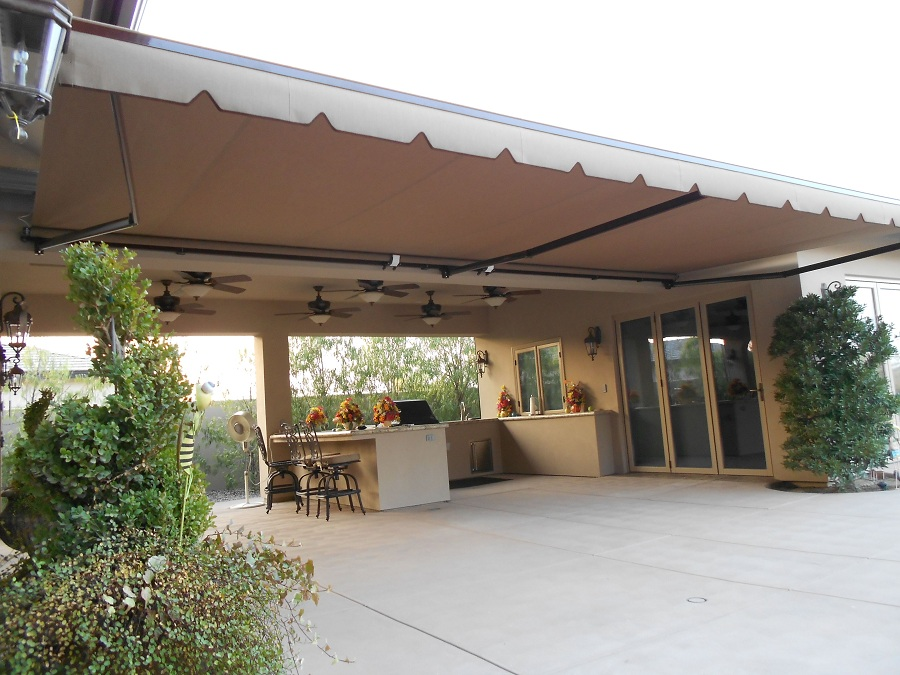 Image of: Gallery Aluminum Awnings for Decks