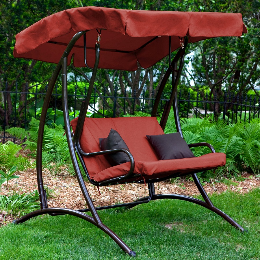 Image of: Garden Outdoor Glider with Canopy