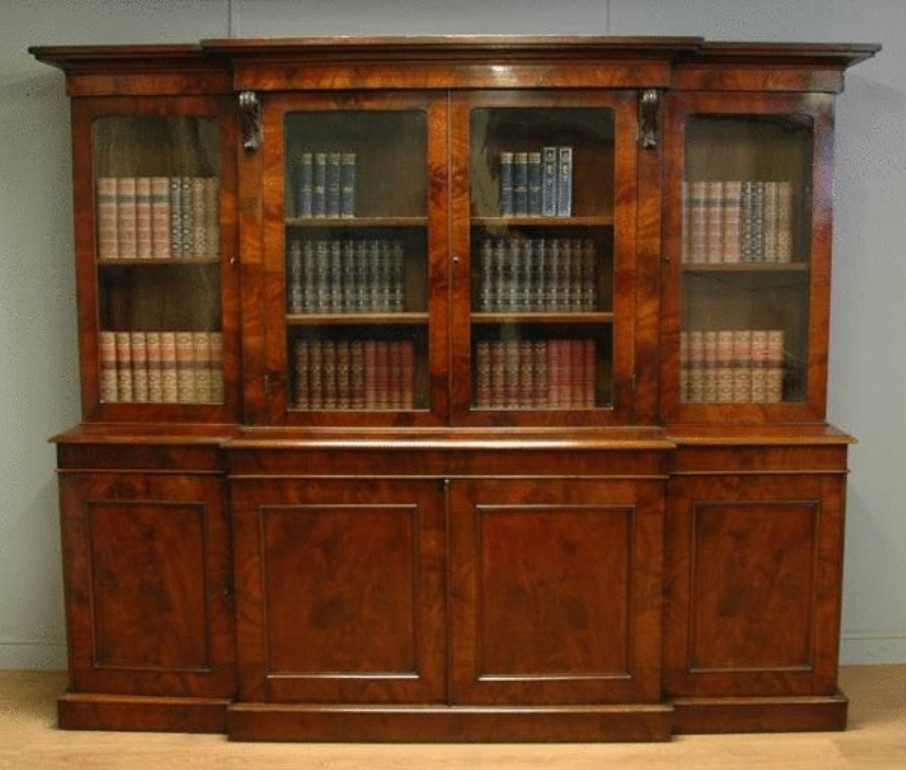 Image of: Georgian mahogany bookcase antique