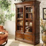 Glass Front Bookcase Designs