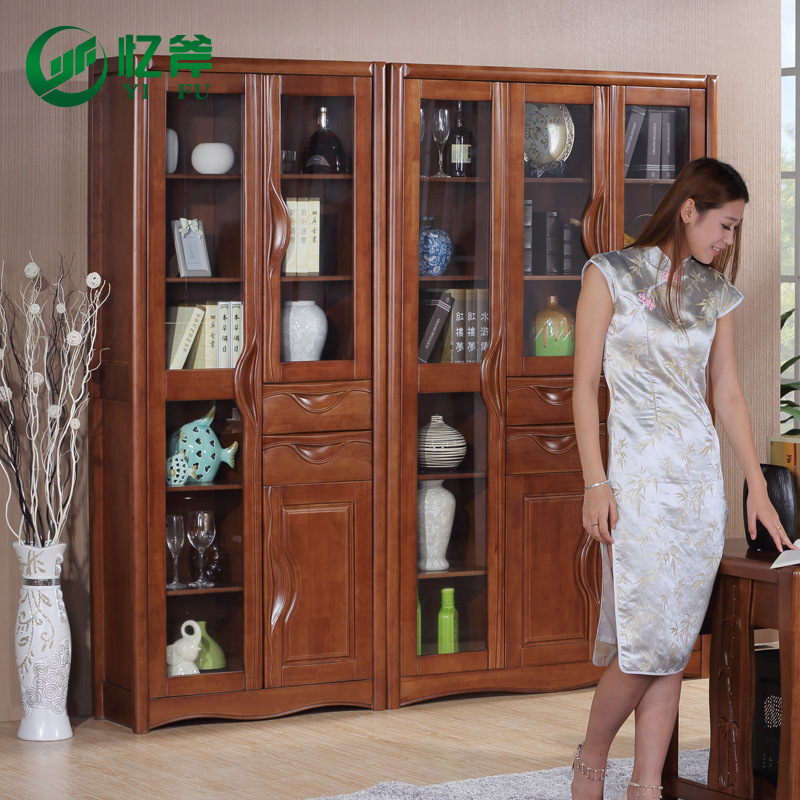 Image of: Glass Front Bookcase Style