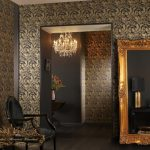 Gold Framed Wall Mirror Design