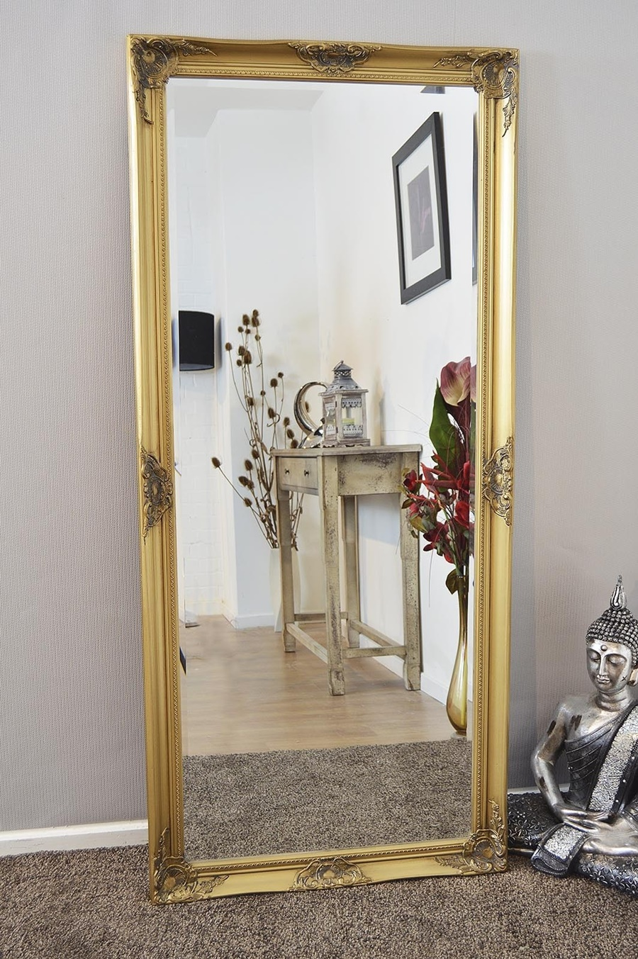 Image of: Gold Framed Wall Mirror Style