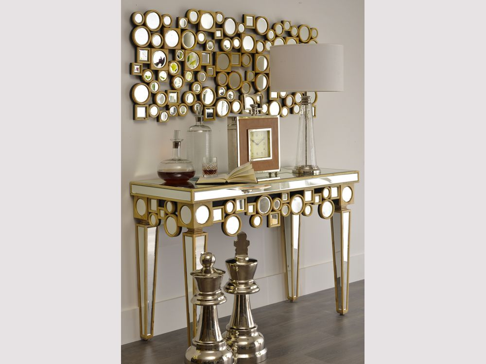 Image of: Gold Mirror Wall Art