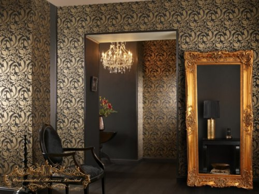Image of: Gold Wall Mirror Accent