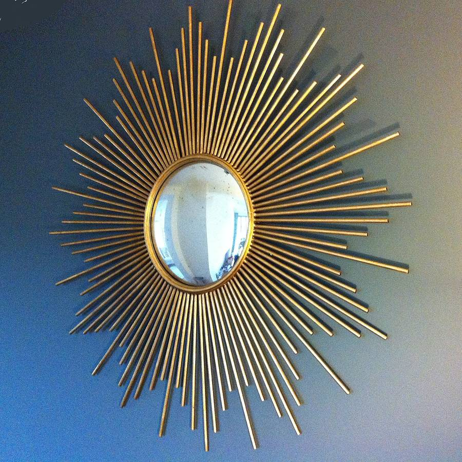 Image of: Golden Sunburst Wall Mirror