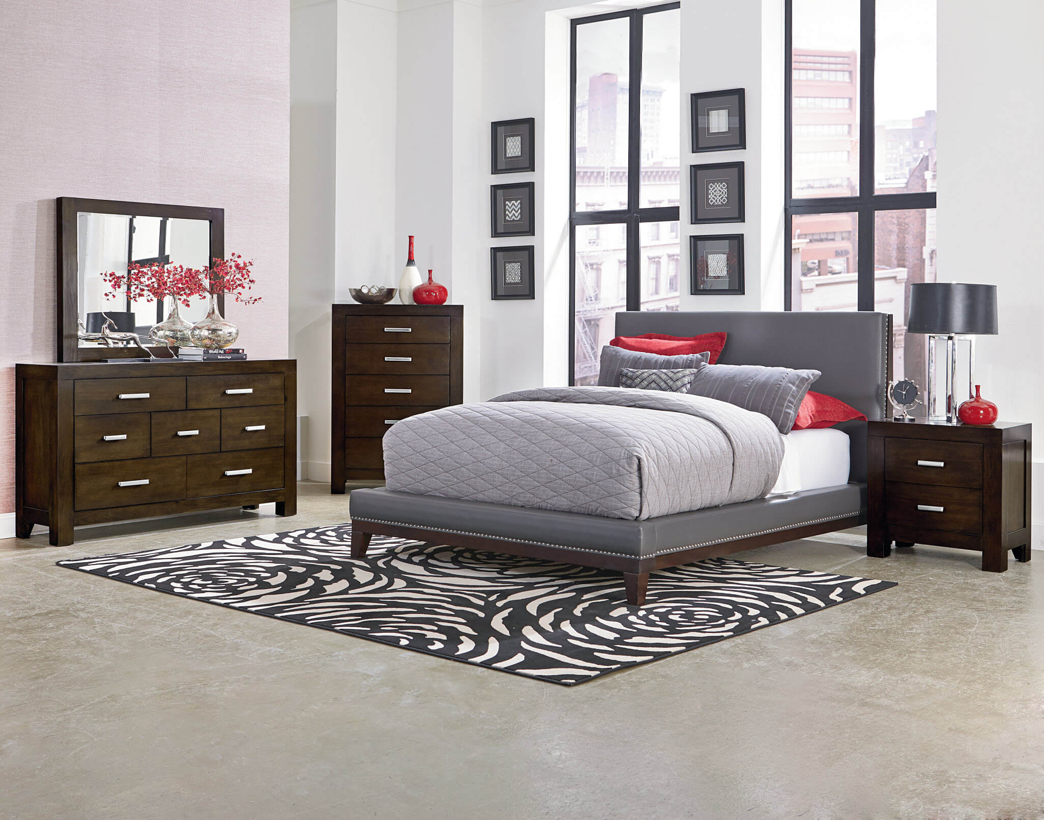 Image of: Gray Bedroom Furniture Ideas