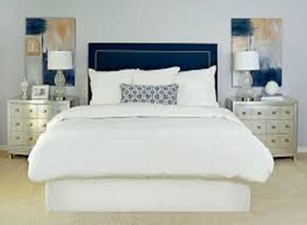 Image of: Gray Upholstered Headboard with Wings