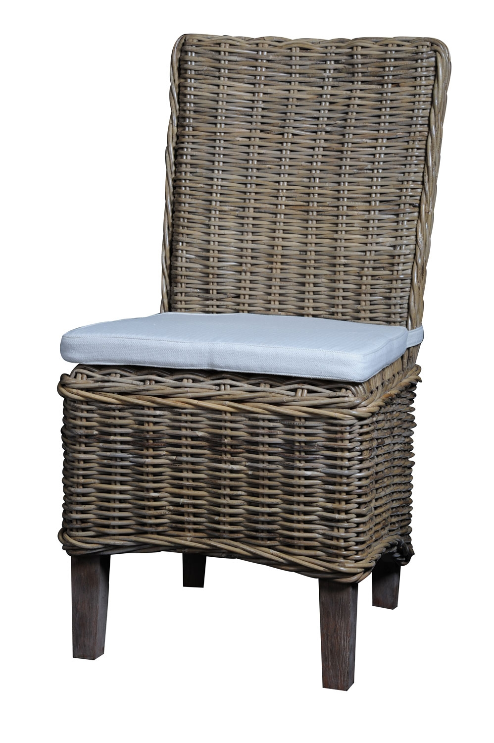 Image of: gray wicker dining chairs