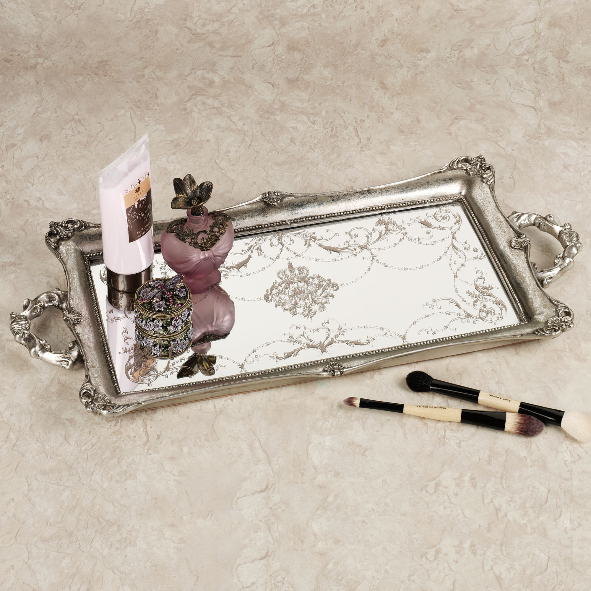 Image of: Great Mirrored Vanity Tray