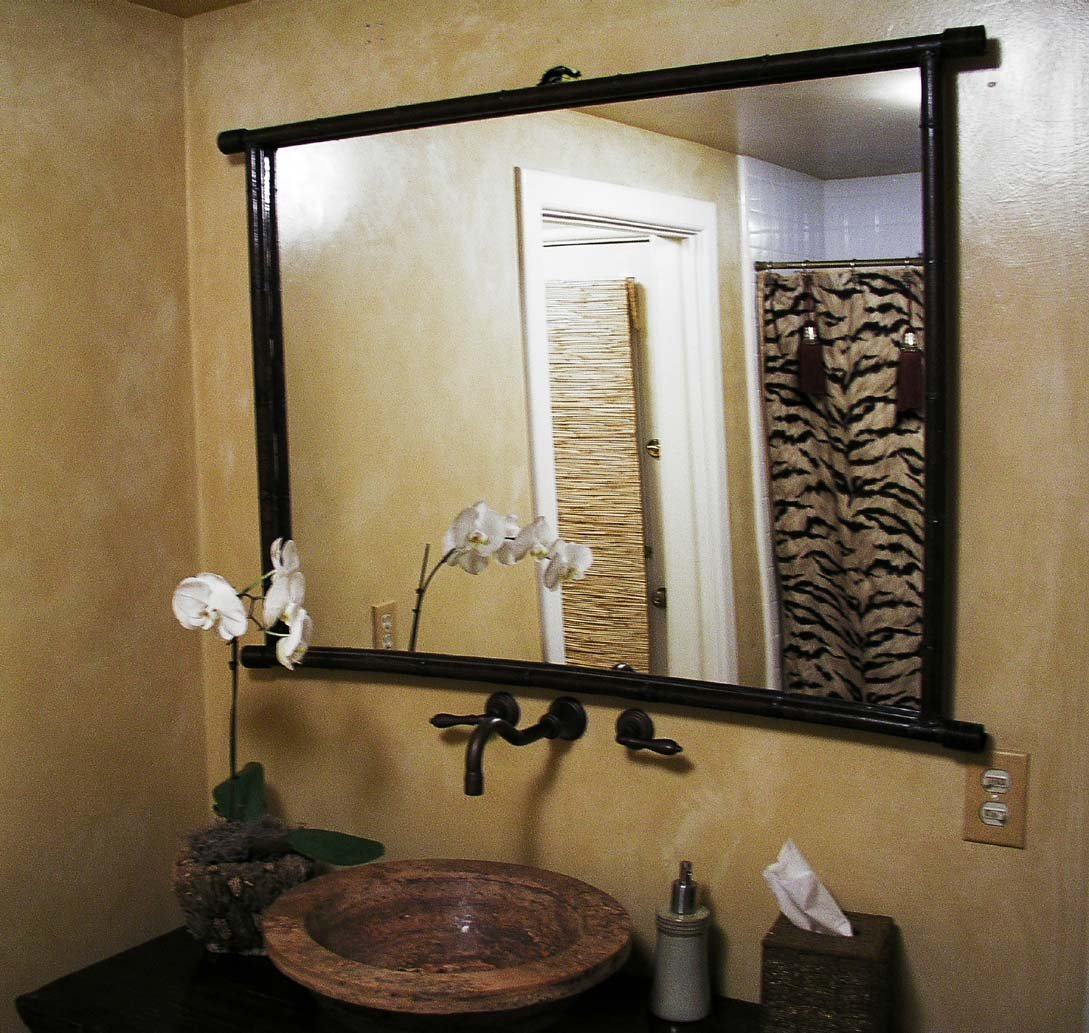 Image of: Great Reclaimed Wood Bathroom Mirror