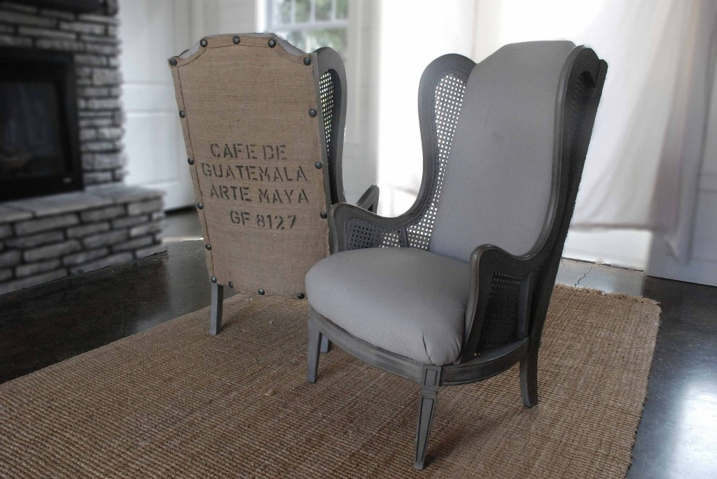 Image of: Grey Nailhead Dining Chair