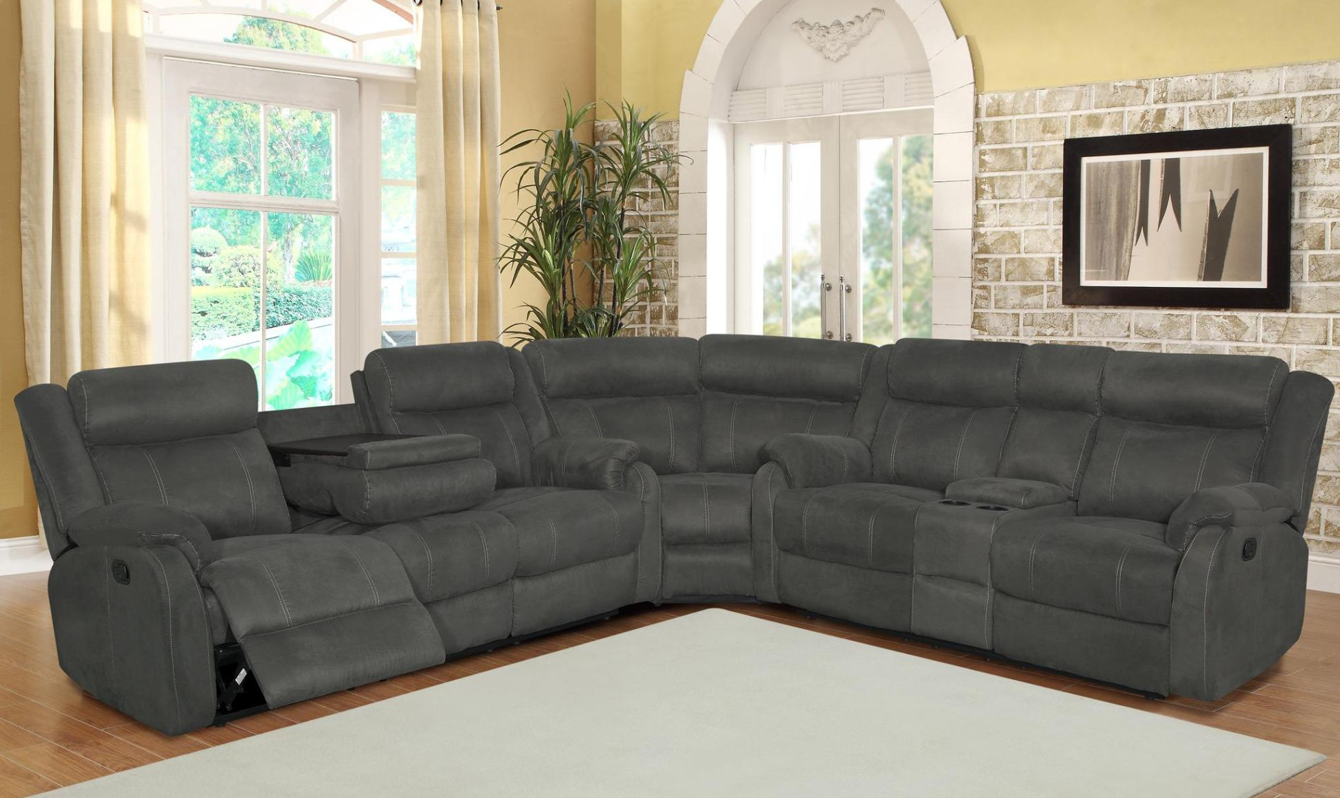 Image of: Grey Reclining Sofa Sets