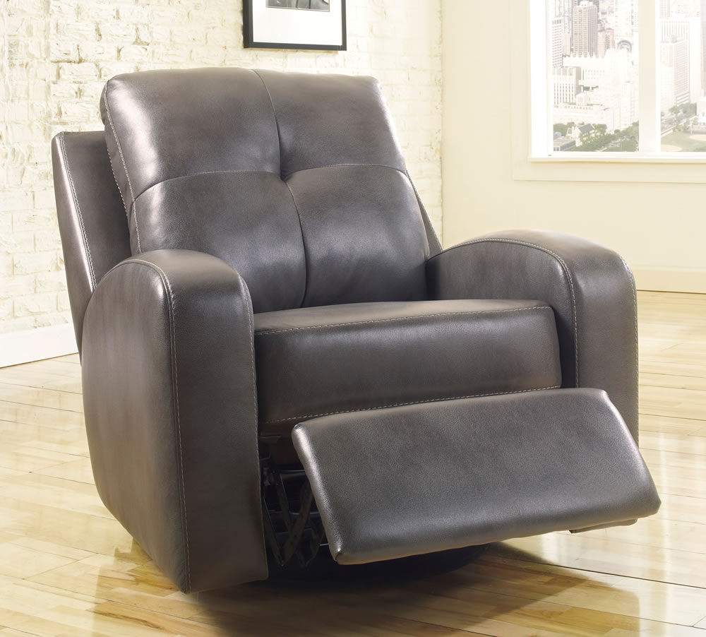 Image of: grey swivel recliner chairs
