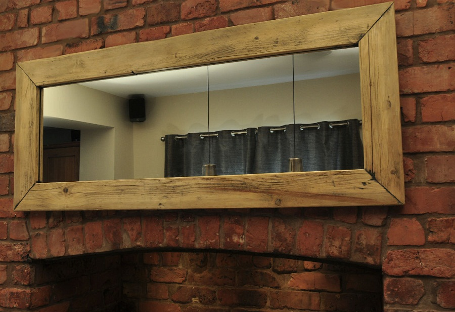 Image of: Hanging Wood Frame Full Length Mirror
